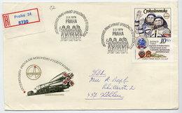 CZECHOSLOVAKIA 1979 Intercosmos Ex Block On   FDC.  Michel 2493 - FDC
