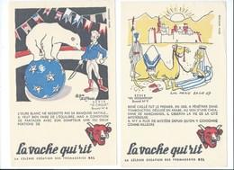 BUVARD X 2 LA VACHE QUI RIT René Caillé Tombouctou Ours Blanc Cirque Bien - Alimentaire