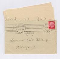 DR MSt - HAMBURG 1938, 12Pfg Hindenburg Auf Brief Mit Inhalt > Hannover - Deutschland
