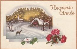 Carte Postale Des Années 60 Fantaisie - Paysage - Enfants - Heureuse Année - Fantaisies