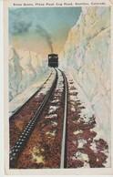 CPA - SNOW SCENE - PIKES PEAK COG ROAD - MANITOU - COLORADO - 22 /97 - - Etats-Unis