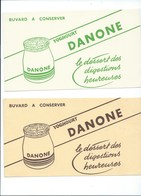 BUVARD X 2 DANONE Yoghourt  Bien - Produits Laitiers