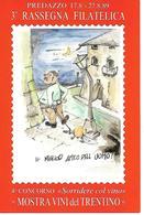 B082 - MOSTRA VINI DEL TRENTINO - 3° RASSEGNA FILATELICA - PREDAZZO 17/27.08.1989 - ANNULLO SPECIALE - Vigne