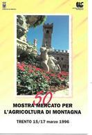 B083 - 50 ° MOSTRA MERCATO PER L'AGRICOLTURA DI MONTAGNA TRENTO 15/17.03.1996 - ANNULLO SPECIALE - Vari
