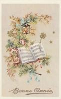 Carte Postale Des Années 60 Fantaisie - Mignonette - Musique - Fleurs - Bonne Année - Fantaisies