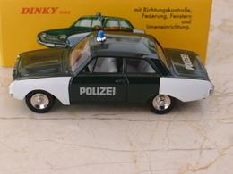 FORD TAUNUS POLIZEI POLICE ALLEMANDE  - DINKY ATLAS 1/43 - COMME NEUVE EN BOITE - Dinky