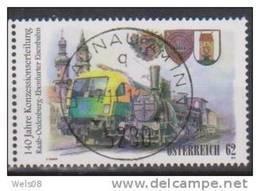 """Österreich 2012: """"Eisenbahnen"""" Gestempelt (siehe Foto/Scan) - 1945-.... 2. Republik"""