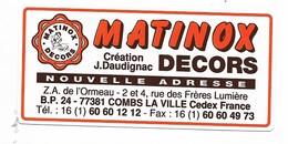 MATINOX DECORS COMBS LA VILLE - Autocollants