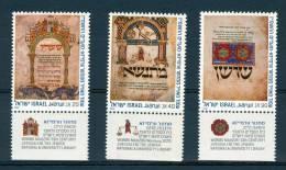 Israel - 1986, Michel/Philex No. : 1043/1044/1045, - MNH - *** - - Ongebruikt (met Tabs)