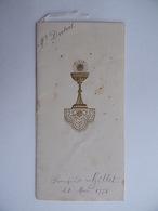 Souvenir De COMMUNION 21 Mai 1950 Avec Menu Image Pieuse Religion - Communion