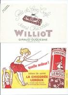 BUVARD X 2 CHICORÉE Williot  Chicorée LEROUX Bien - Café & Thé