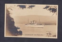 Carte Photo Bateau Paquebot R.M.S. Empress Of Asia Entering Vancouver Harbor ( F. Gowen Canada 1917) - Paquebots