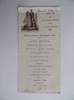 Souvenir De MARIAGE 30 Novenbre 1946 Avec Menu Image Pieuse Religion - Mariage