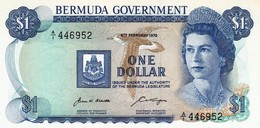 "BERMUDA 1 DOLLAR 1970 UNC P-23a ""free Shipping Via Registered Air Mail"" - Bermuda"