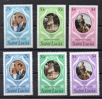 SAINTE LUCIE Timbres Neufs ** De 1981  ( Ref 5844 ) Famille Royale - Lady Diana - St.Lucie (1979-...)