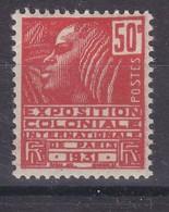 France Année 1930-1931  Exposition Coloniale Internationale De Paris N° 272** 50 C Rouge Lot 1213 - France