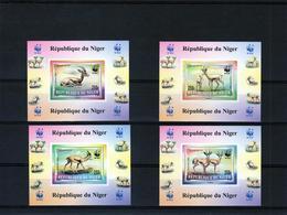 Niger 1998, WWF, Antilopes, 4BF IMPERFORATED - W.W.F.