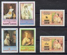 SAINTE LUCIE Timbres Neufs ** De 1980-1  ( Ref 5845 ) Art - Peinture - Queen Mother - St.Lucia (1979-...)