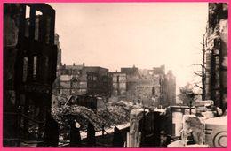 Cp Photo 13,5 * 8,5 - Rotterdam - Mei 1940 - Gezicht Op De Achterzijde Van Den Coolsingel - Bombardement - S.G. BRUSSE - Rotterdam