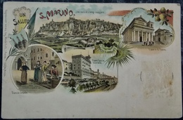 Cartolina SAN MARINO - LITHO Saluto Da San Marino - San Marino