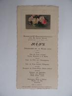 Souvenir De MARIAGE 13 Mars 1930 Avec Menu Image Pieuse Religion - Menus