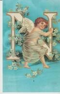 CPA - CARTE ALPHABET - N - ANGELOT - BLEU - Autres