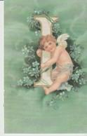CPA - CARTE ALPHABET - L - ANGELOT - VERT - Fantasia