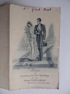 Souvenir De MARIAGE 24 Avril 1948 Avec Menu Image Pieuse Religion - Mariage