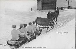 TAYLING-PARTIE → Wie Damals Die Bob Nach Oben Gebracht Wurden, Ca.1900 - GR Grisons