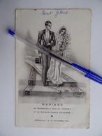 Souvenir De MARIAGE 13 Septembre 1952 Avec Menu Image Pieuse Religion - Mariage