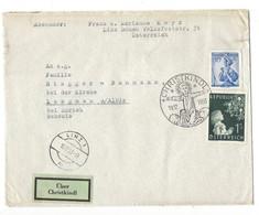 21084 - Christkindl 1953 Lettre Pour Langnau + Cachet Linz 18.12.1953 Et Vignette über Christkindl - Noël