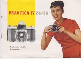 3369   PRAKTICA  IV 24 X 36    INSTRUCTIONS FOR USE - Autres
