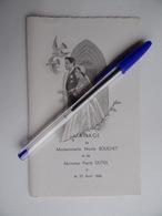 Souvenir De MARIAGE 27 Avril 1960 Avec Menu Image Pieuse Religion - Mariage