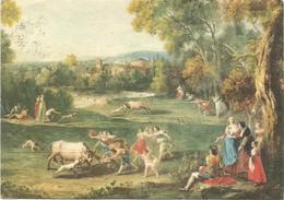 V3212 Francesco Zuccarelli - Caccia Al Toro - Venezia - Gallerie Dell'Accademia - Dipinto Paint Peinture / Viaggiata - Pittura & Quadri