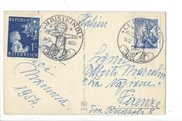21085 - Christkindl 1954 Carte Pour Firenze 14.12.1954 Enfant Jésus Et Moutons - Noël