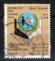 IRAQ - 1978 - ANNO INTERNAZIONALE CONTRO IL RAZZISMO - USATO - Iraq