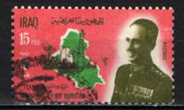 IRAQ - 1967 - PRESIDENTE ARIF E MAPPA DELL'IRAQ - USATO - Iraq
