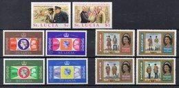 SAINTE LUCIE Timbres Neufs ** De 1974-1979  ( Ref 5847 ) ElisabethII - W.Churchill - St.Lucia (1979-...)
