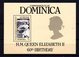 1986   Dominique, 60 Ans De La Reine Elisabeth, BF 109 **, Cote 8 € - Dominique (1978-...)