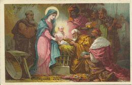 AK Weihnachten / Christmas Krippe Mit Jesus + Familie + 3 Könige Color 1917 #50 - Noël
