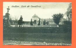 """CPA  CARTE PHOTO Autun """" école De Cavalerie """" Archives Daniel Delboy - Autun"""