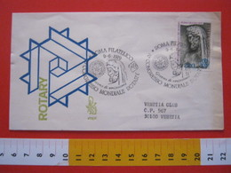 A.02 ITALIA ANNULLO - 1979 ROMA FDC ROTARY CLUB 70* CONGRESSO MONDIALE ARA PACIS ENEA - Rotary, Lions Club
