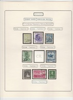LOT - Perfores - Perfines Perfins COMMERCIAL PATENT, - 8 STAMPS,SEE SCAN,ROMANIA. - Perfins