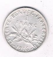 1 FRANC 1916 FRANKRIJK /8391/ - France