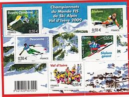 CHAMPIONNAT DU MONDE DE SKI 2009 VAL D'ISERE - Mint/Hinged