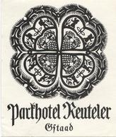 PARKHOTEL REUTELER GSTAAD Ca. 1940 Etiquette De Bagages - Hotel-Etikette - Suisse - Schweiz - Etiquettes D'hotels