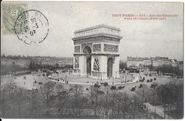PARIS 75 SEINE TOUT PARIS 836 ARC DE TRIOMPHE  PLACE DE L'ETOILE XVII ARR. EDIT. 4 C DANS TRÈFLE JCT&DG - France