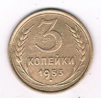 3 KOPEK 1953 CCCP  RUSLAND /8395/ - Russie