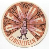 HOTEL PFAUEN EINSIEDELN Ca. 1940 Etiquette De Bagages - Hotel-Etikette - Suisse - Schweiz - Etiquettes D'hotels