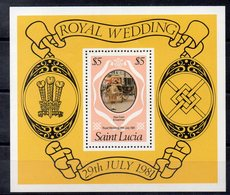 SAINTE LUCIE  Timbre Neuf ** De 1981   ( Ref 5853 )  Famille Royale - St.Lucia (1979-...)